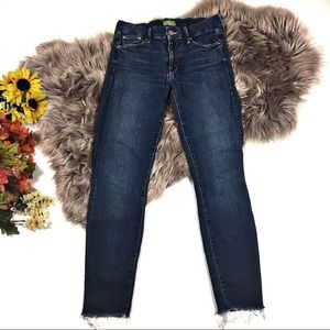 Mother The Looker Ankle Fray Girl Crush Jeans